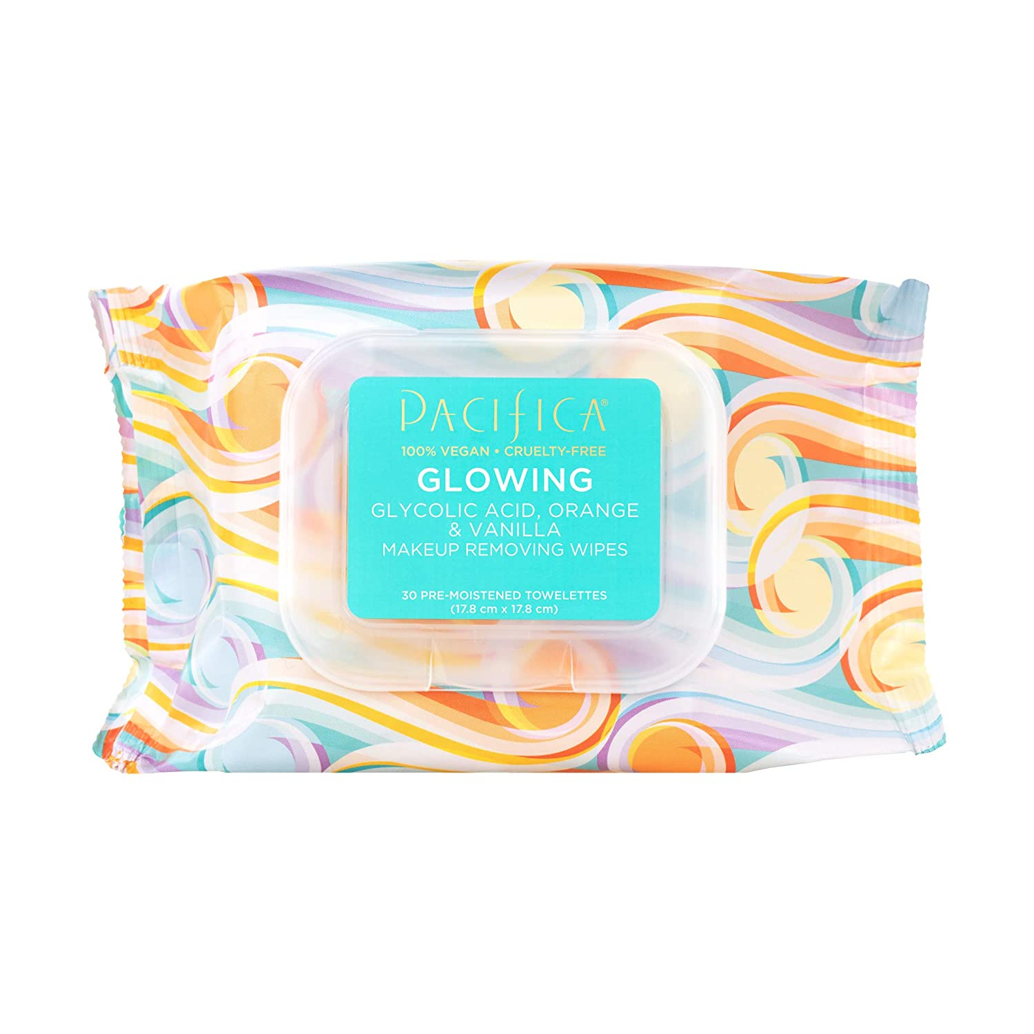 Pacifica Glowing Makeup Removing Wipes  30ct