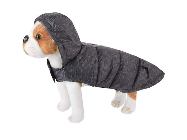 Free Country Dog Raincoat In Black, XS
