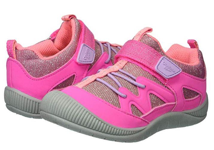 OshKosh B'Gosh Little Kids Abis Girl's Protective Bumptoe Sneaker In Pink Size 5
