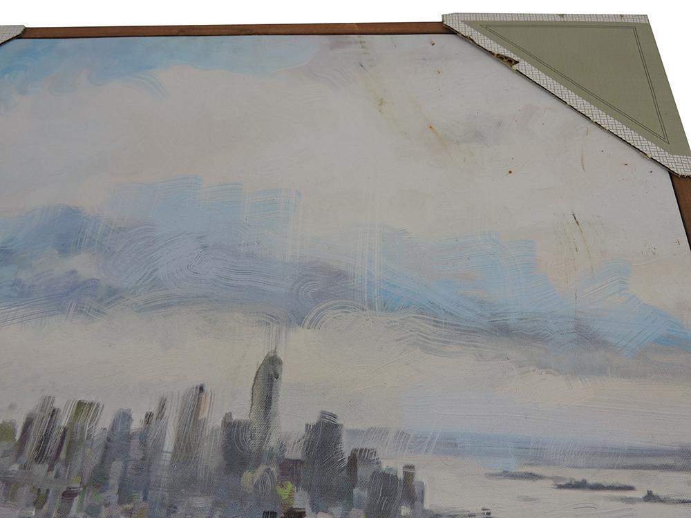 Masterpiece Art Gallery Daybreak Manhattan 24Inch x 36Inch Canvas Wall Art