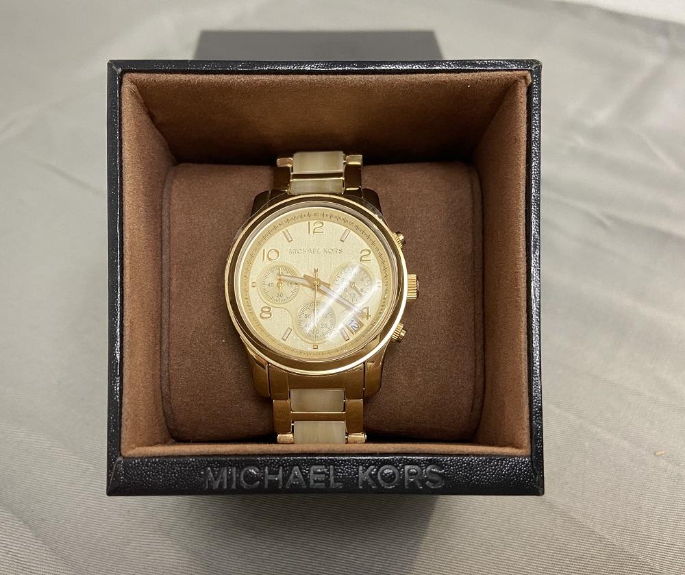 Michael Kors Runway Chronograph GoldTone Stainless Steel Ladies Watch