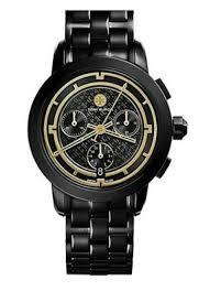 Tory Burch Women's TRB1025 Chronograph Bracelet Watch  Black
