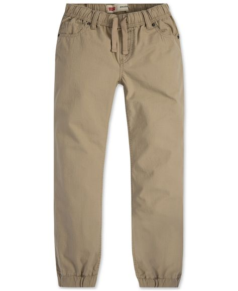 Levi's Boy's Jogger Pants in Taupe, 8