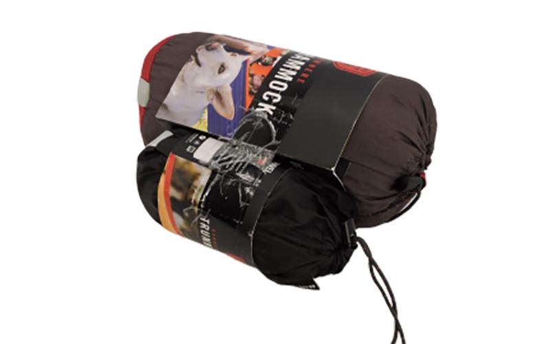 Grand Trunk Double Parachute Nylon Hammock In Crimson/Charcoal