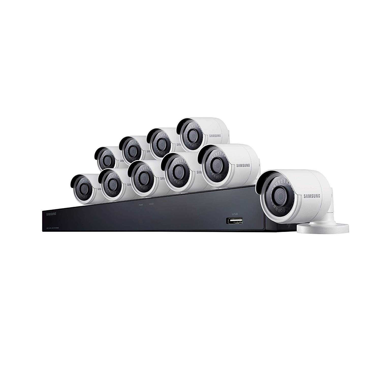 Samsung 16 Channel 4 MP Security System with 2TB Hard Drive, 10 Super HD Bullet