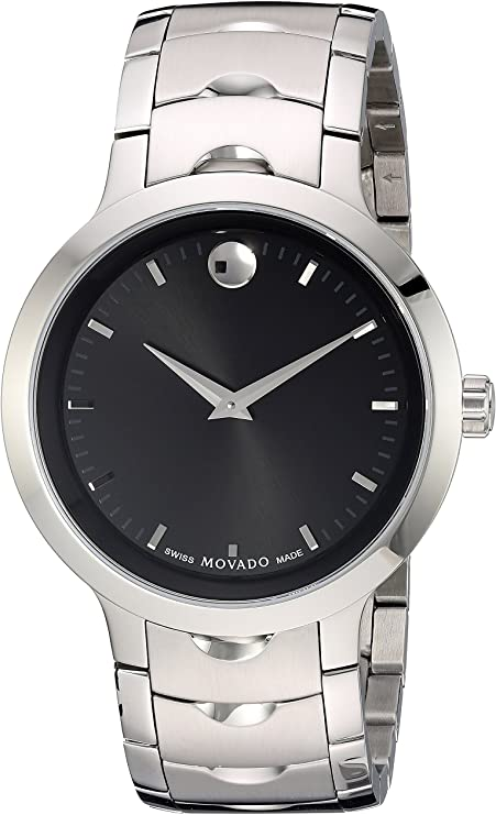 Movado Men's Swiss Quartz Stainless Steel Watch, Color: SilverToned (Model: 0607041)