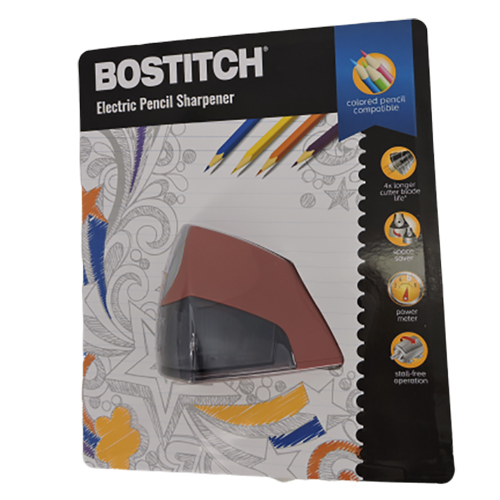 Bostitch Compact Desktop Electric Pencil Sharpener in Light Red