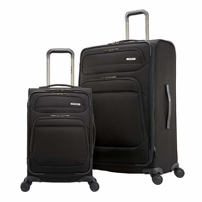 Samsonite Epsilon NXT 2piece Softside Spinner Luggage Set in Black