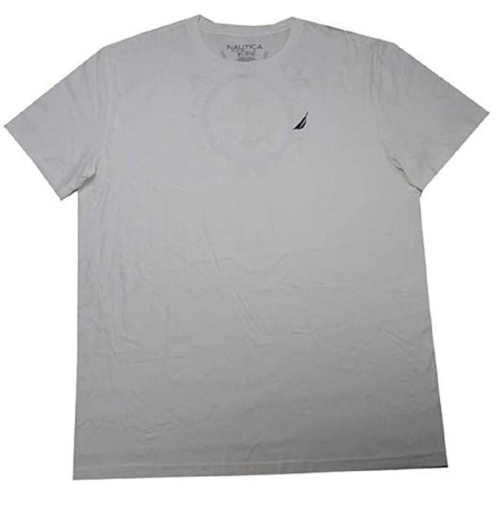 Nautica Mens Authentic Naval Design Tshirt in Bright White, Size Medium