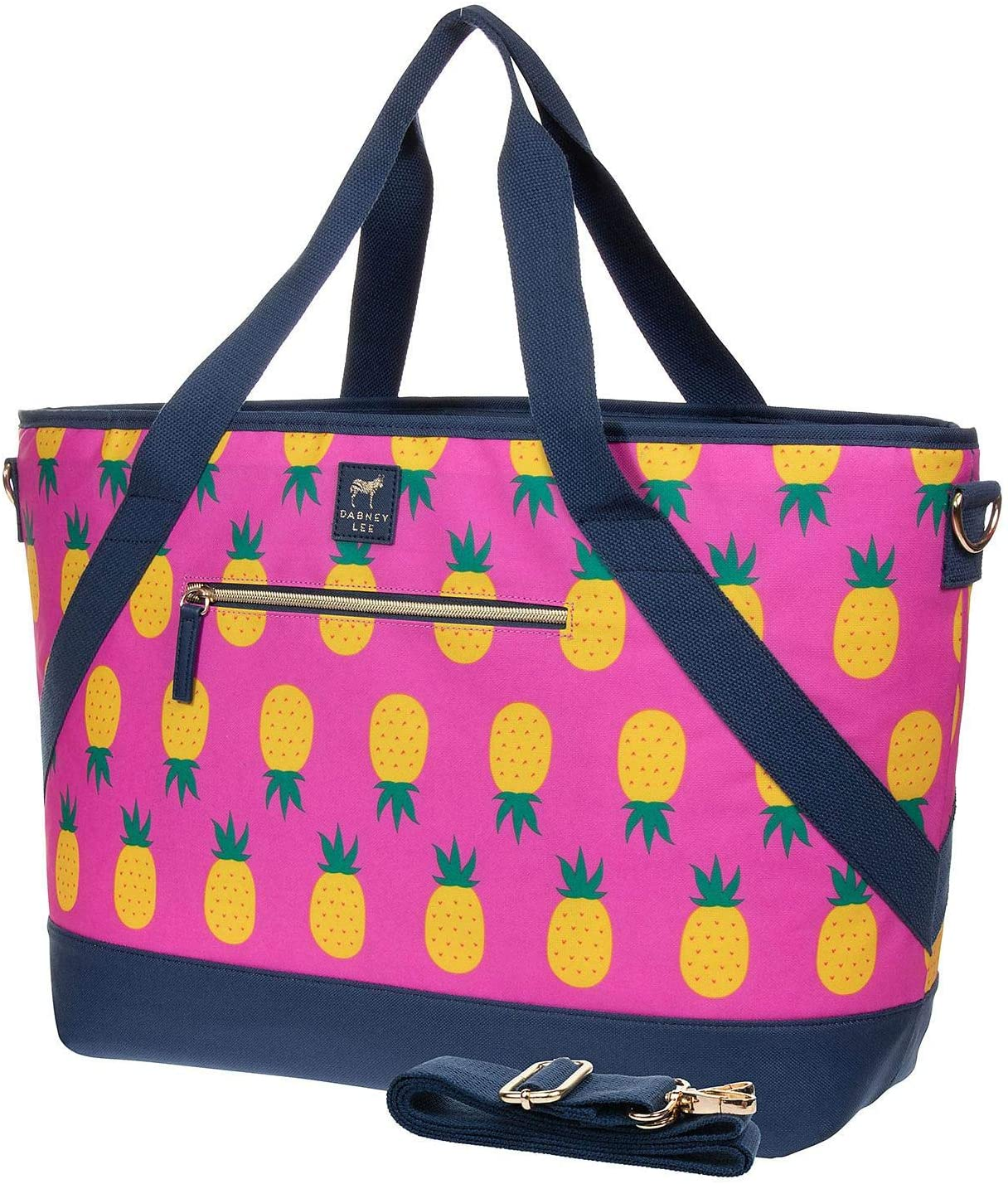 """Dabney Lee Insulated 22""""x14"""" Picnic Tote Bag (Pink Pineapple)"""