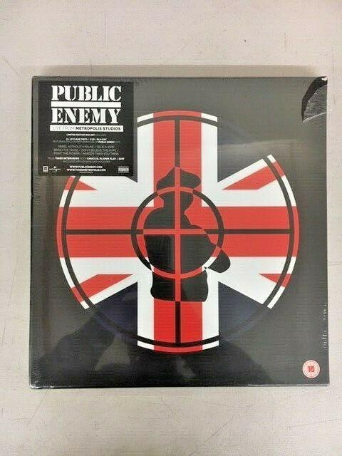 PUBLIC ENEMY Live from Metropolis Studios Deluxe Box 2CD, Bluray, 2LP, Book