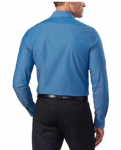Calvin Klein Men's Stretch Shirt 1616.5 x 32/33 in Blue