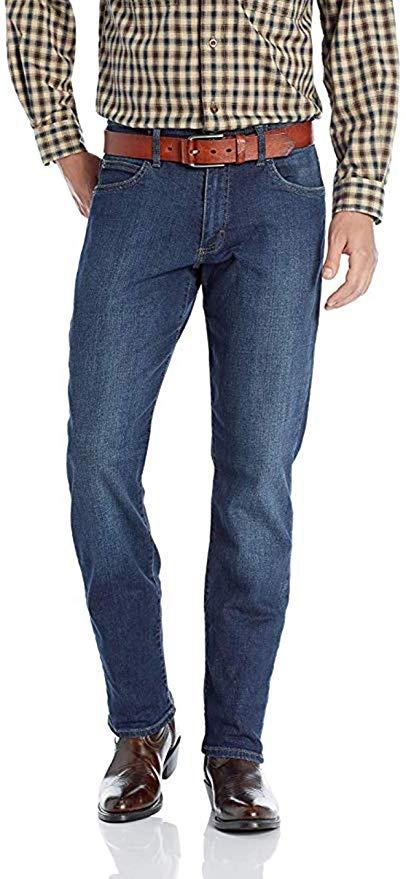 LEE Men's Premium Select Regular Fit Straight Leg Motion Stretch Jeans In Medium Wash Jeans 34 x 34