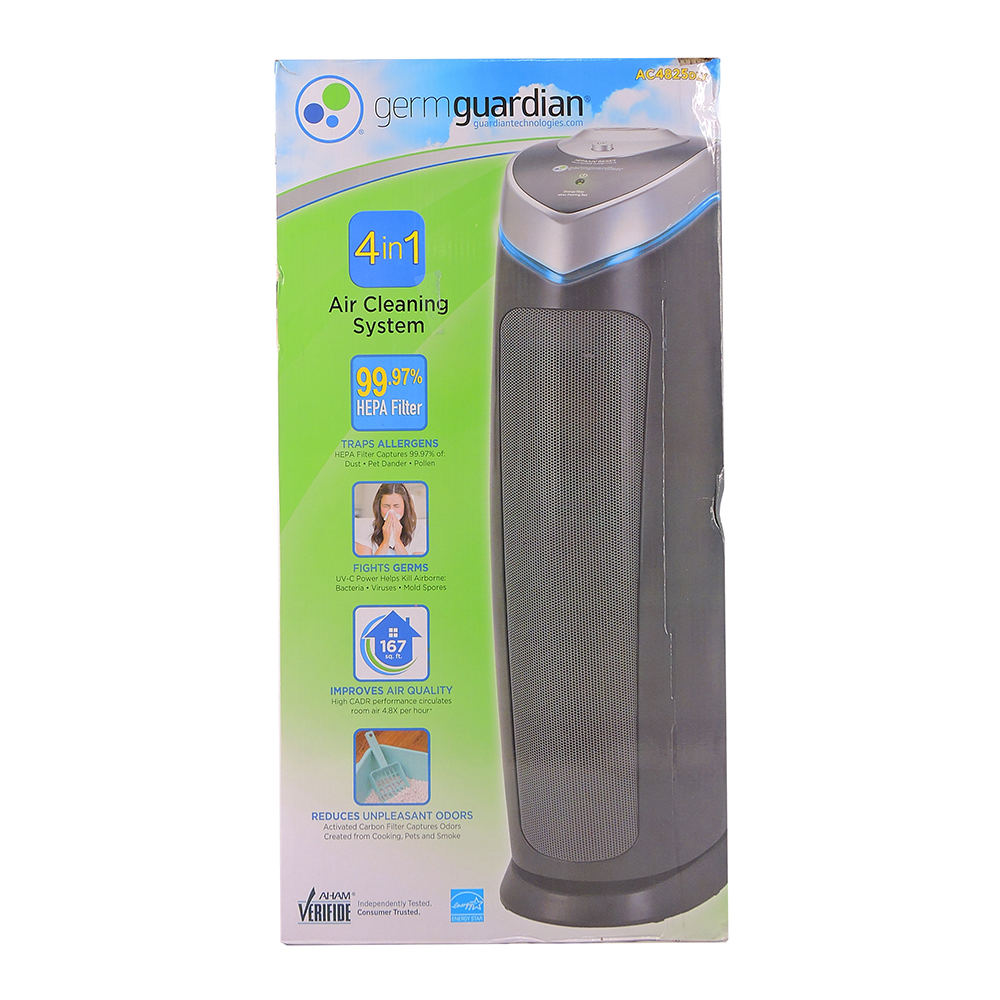 GermGuardian® 22Inch 4in1 HEPA Tower with UVC Tower Air Purifier