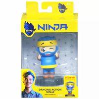NINJA 4 Inch Bobblehead Dancing Action Ninja  Blue