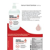 AERIUM Clean and Clear Hand Sanitizer, 500 ml 16.9 Fl Oz (2Pack)