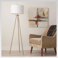 Ellis Tripod Floor Lamp Brass  Project 62