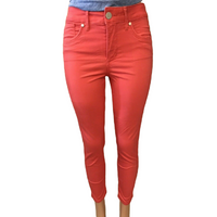Seven7 Women's High Rise Ankle Crop Skinny Jeans in Cayenne, 6