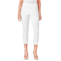 NINE WEST Women's Heidi PullOn Crop Yoga Stretch Pant Skinny Jeans in White Size 10