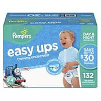PAMPERS Easy Ups Training Underwear for Boys, 3T/4T (3040 lbs.) 132 ct.