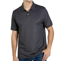 MEMBER'S MARK Stretch Cotton Polo In Black Noir, Large
