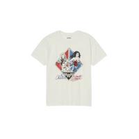 WONDER WOMAN Women's Cheetah Short Sleeve Graphic TShirt In Off White, XXL