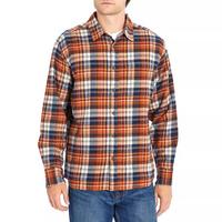 EDDIE BAUER Men's Flannel Shirt In Rust, M