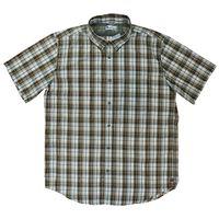 UB TECH Men's Short Sleeve Button Down Woven Shirt In Rugged, M