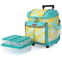 ARCTIC ZONE INSULATED ROLLING TOTE 44 CAN CAPACITY   LEMONADE YELLOW