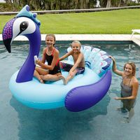 Inflatable Mega Peacock 2 Person Ride Island Float Pool