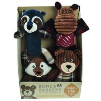 Bone  Barkers 4 Pieces Autumn Dog Toy Pack, Small Dog