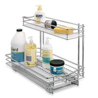 Lynk Professional 11.5Inch x 21Inch RollOut Double UnderSink Basket Drawer
