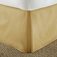 Home Collection Pleated Bed Skirt, Twin, Gold