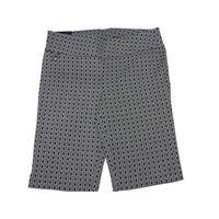 RAFAELLA Black White Patterned Comfort Stretch Dressy Shorts Size 12
