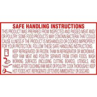 """1 Roll 2""""x1.5"""" Red Safe Handling Instruction Labels (14,000 per Roll)"""