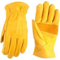 Wells Lamont Heavy Duty Grain Cowhide Extra Wear Palm Leather Work Gloves xl