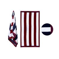 Members Mark Cabana Oversized Towel  Red Navy Stripe