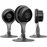 NEST  CAM SECURITY CAMERA  BLACK SILVER