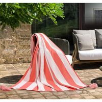 "WOMEN OWNED INDOOR  OUTDOOR THROW, 50"" X 70""  C.S. CORAL"