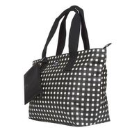 DABNEY LEE CARRYALL TOTE WITH REMOVABLE POUCH  BLACK