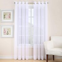 VOILE 63INCH SHEER GROMMET WINDOW CURTAIN PANEL IN WHITE