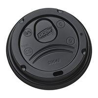 DIXIE PERFECT TOUCH DOMED HOT CUP LID FOR 20 OUNCE, 500 CT