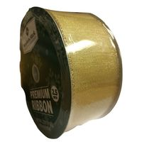 "Members Mark Premium Ribbon gold 2.5"" 50 Yards"