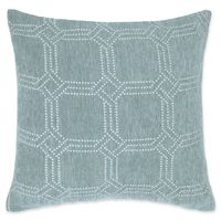 MakeYourOwnPillow Alberto Chenille Square Throw Pillow Cover in Teal