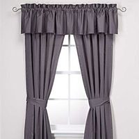 Manor Hill Ellis Window Valance in Charcoal