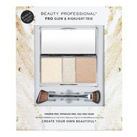 Beauty Professional Pro Glow  Highlight Trio with Dual Ended Brush