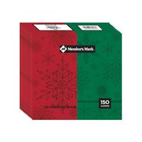 Premium Holiday Paper Plates and Dinner Napkins 150 CT (Dinner Napkins)
