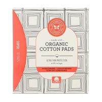 Honest Organic Cotton Pads Super 10Ct