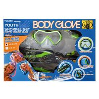 Body Glove Snorkel Set, Youth Green, S M