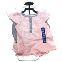 CARTERS Baby Girls Pink, White and Gray Diaper Cover Set 4 Piece 12M